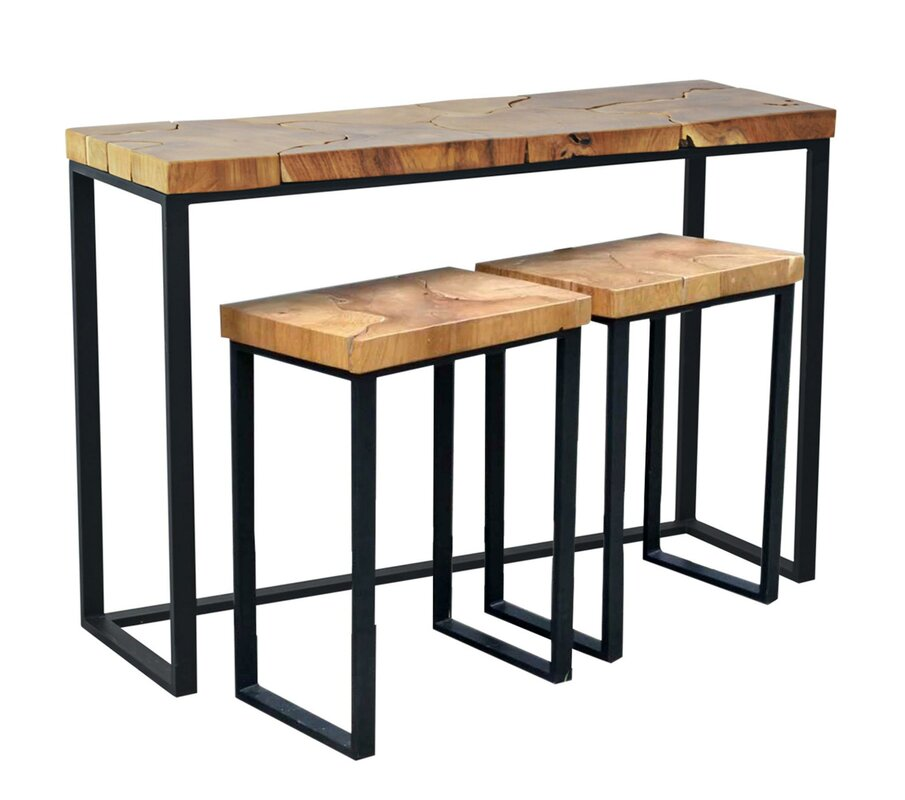 Sofa table with stools as well u