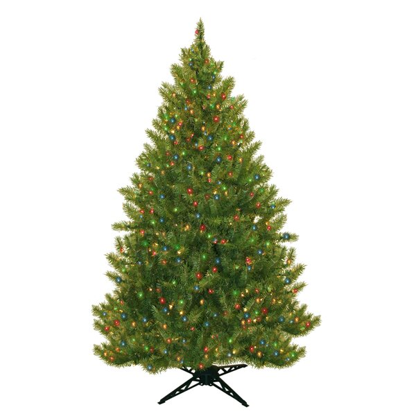 14 Ft Christmas Tree Part - 28: 6.5u0027 Evergreen Fir Artificial Christmas Tree With 450 Multicolored Lights