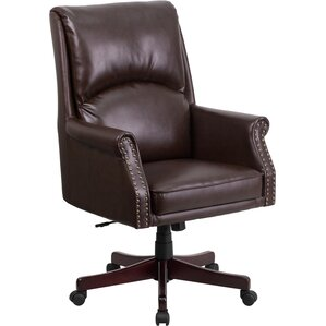 leather office chair. high-back leather executive chair office wayfair