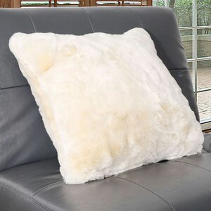 Arctic Faux Fur Throw Pillow