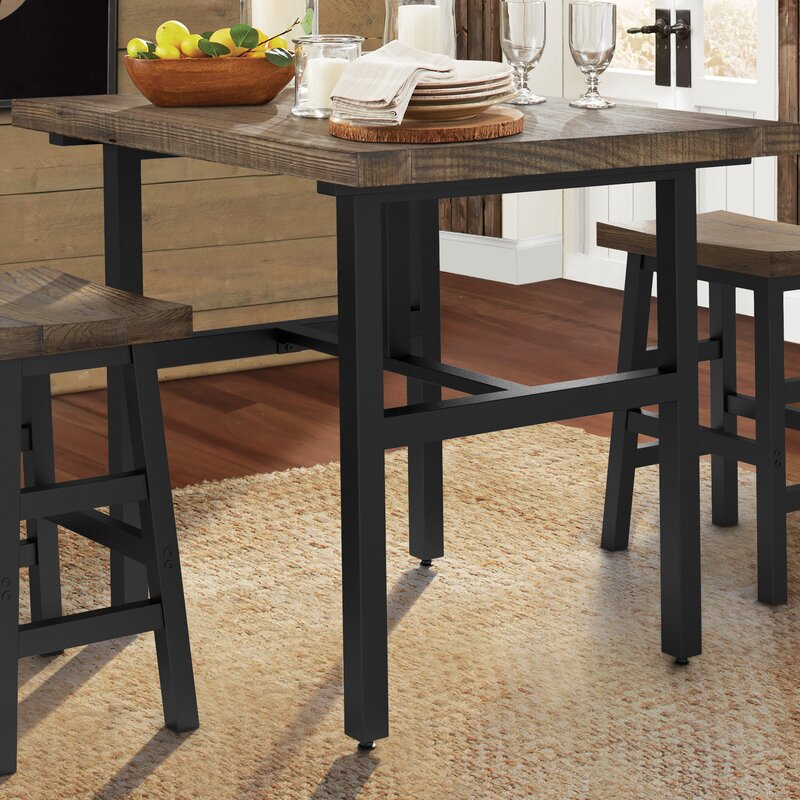 Loon Peak Somers Reclaimed Wood Counter Height Dining Table ...