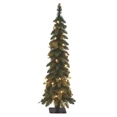 pencil slim 4 green fir artificial christmas tree with 70 ul clearwhite lights - White Slim Christmas Tree