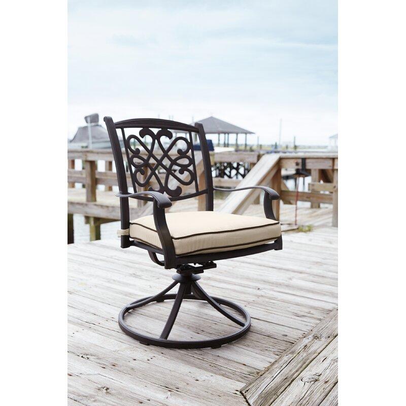 Hanson Swivel Rocker Patio Dining Chair with Cushion - Darby Home Co Hanson Swivel Rocker Patio Dining Chair With Cushion