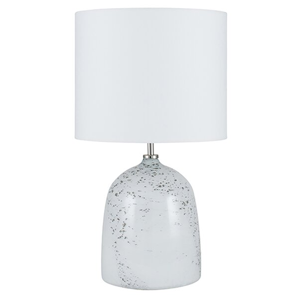Modern Glam 48cm Mirrored Mosaic Table Lamp Bedside Light with Dark Grey Shade