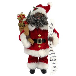 african american santa figurine - Santa Claus Christmas Decorations