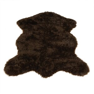 Animal Pelt Brown Area Rug