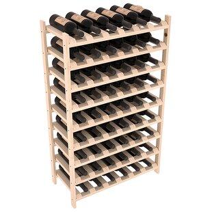 Karnes Pine Stackable 54 Bottle Floor Wine Rack