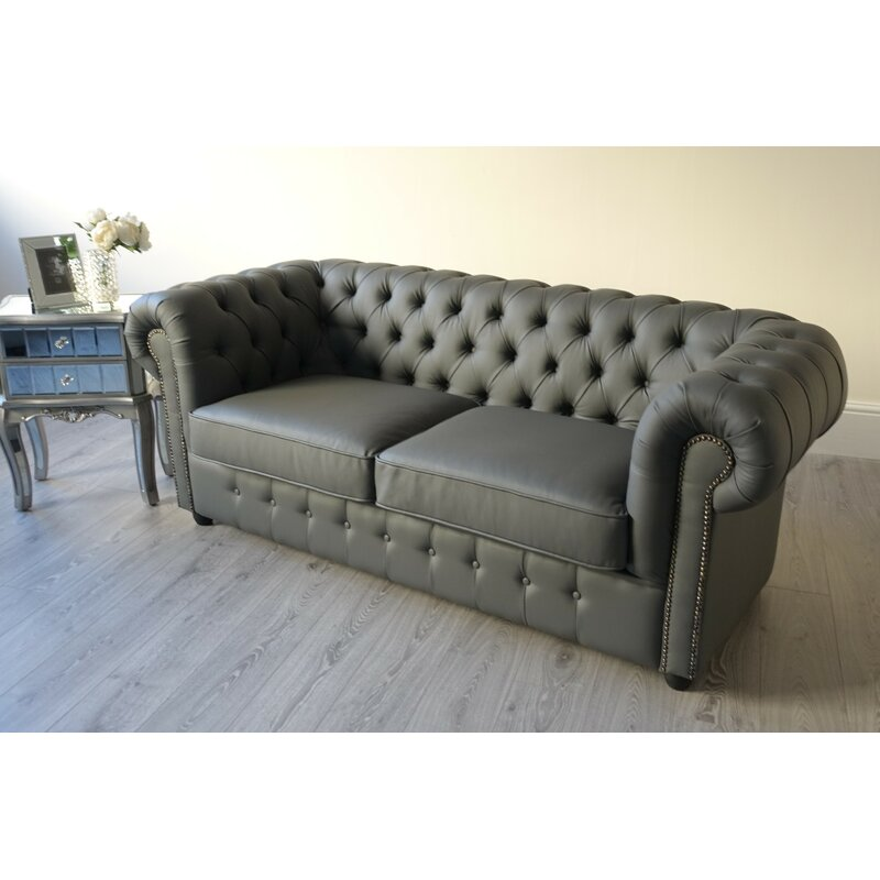Marlow Home Co Dunston 3 Seater Chesterfield Sofa Wayfair Co Uk