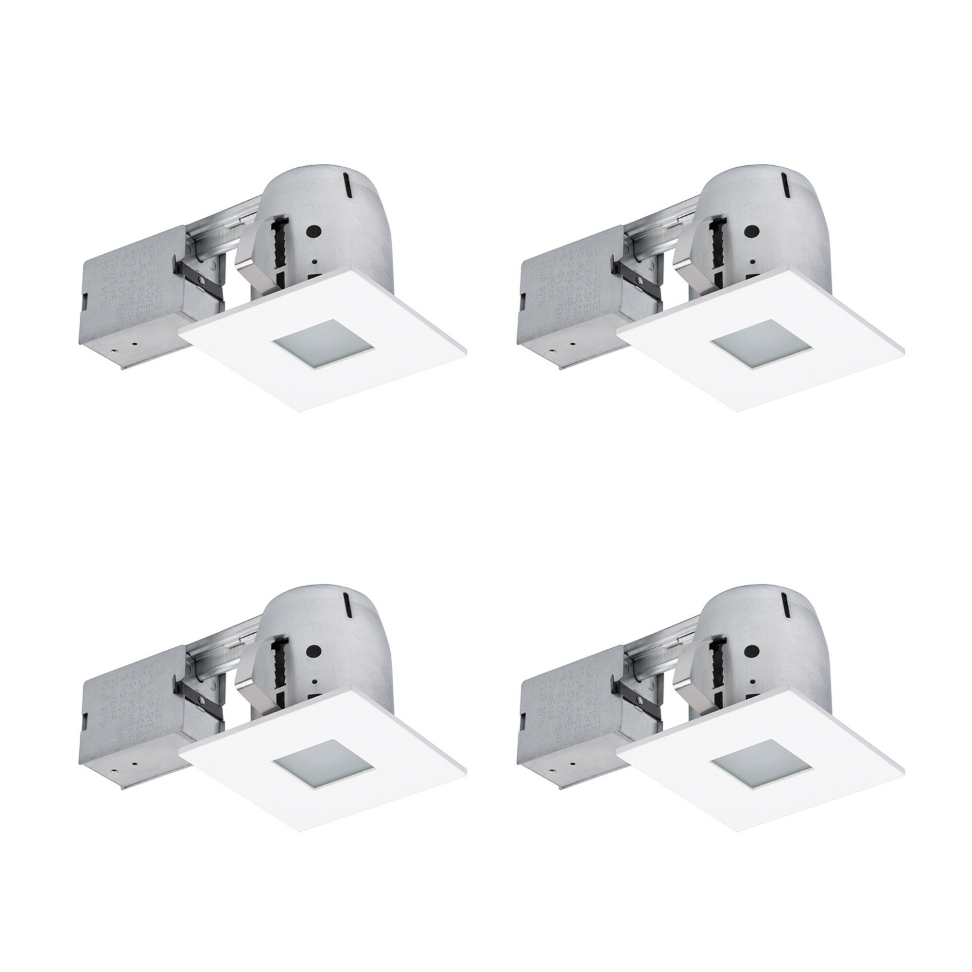 90951 Ryanne Bathroom Square 4 Recessed Lighting Kit