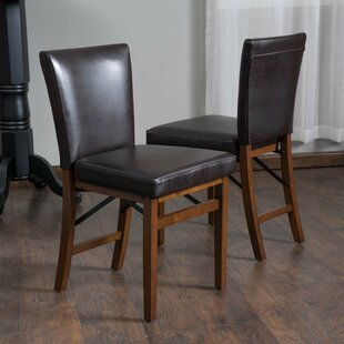 Oshea Genuine Leather Upholstered Dining Chair (Set of 2)