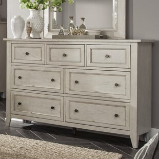 Stoughton 7 Drawer Dresser In Weathered White