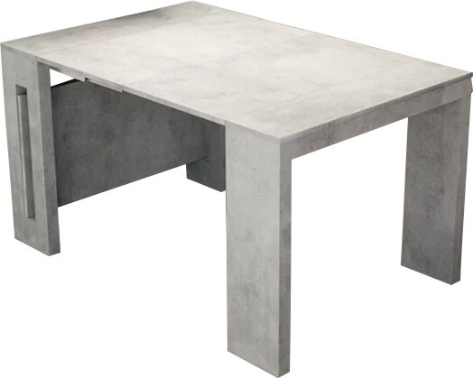 Orren Ellis Earnest Concrete Extendable Dining Table Wayfair - Extendable concrete dining table