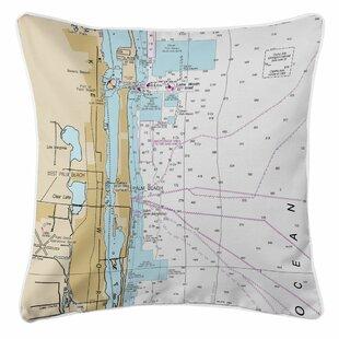 West Palm Beach, FL Throw Pillow