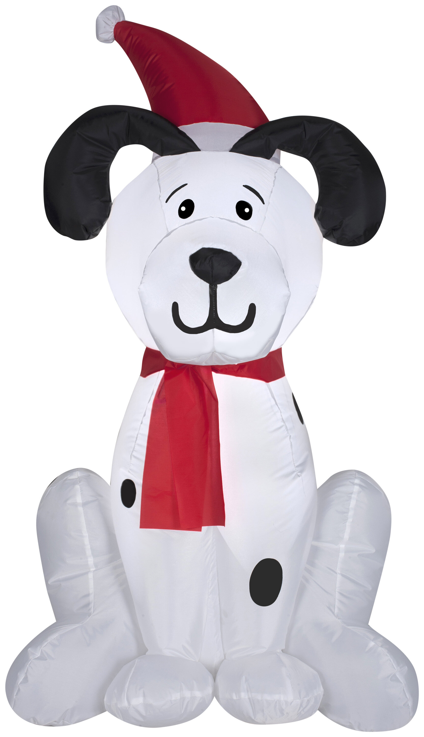 The Holiday Aisle Dalmation Puppy Christmas Inflatable | Wayfair