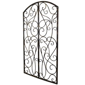 Metal Gate Wall Decor wrought iron art decor | wayfair