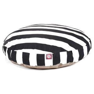 Vertical Stripe Round Pet Bed