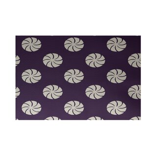 Shop for Decorative Holiday Geometric Print Purple Indoor/Outdoor Area Rug By The Holiday Aisle