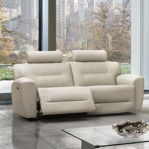 Devin Leather Reclining Sofa by Relaxon