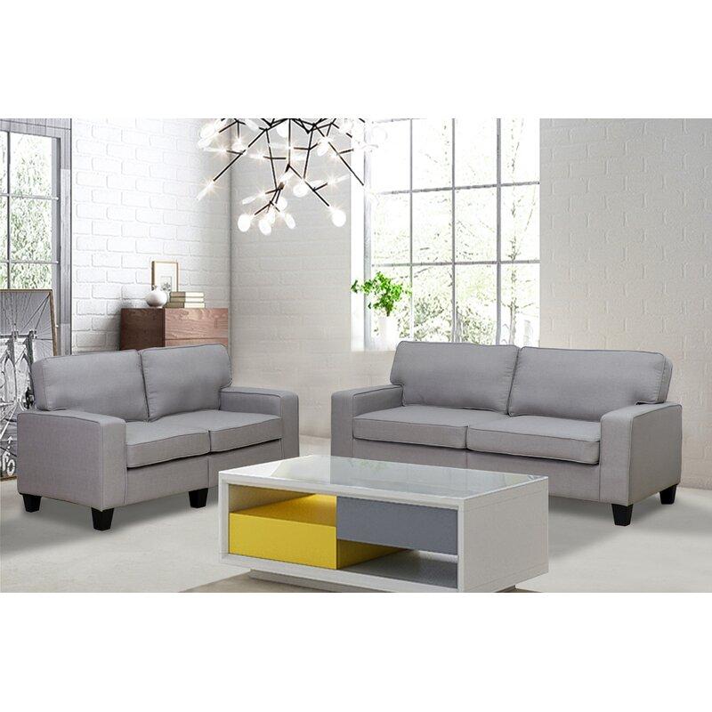 Wrought Studio Bittle 2 Piece Living Room Set & Reviews