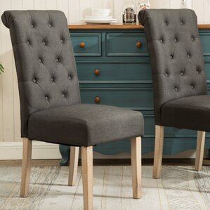 sabanc solid wood button tufted side chair set of 2