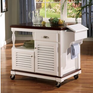 Winstead Sophisticated Kitchen Island With Casters