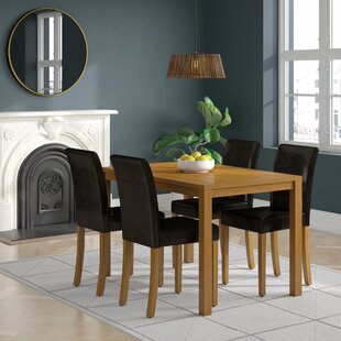 Ivana Dining Set With 4 Chairs
