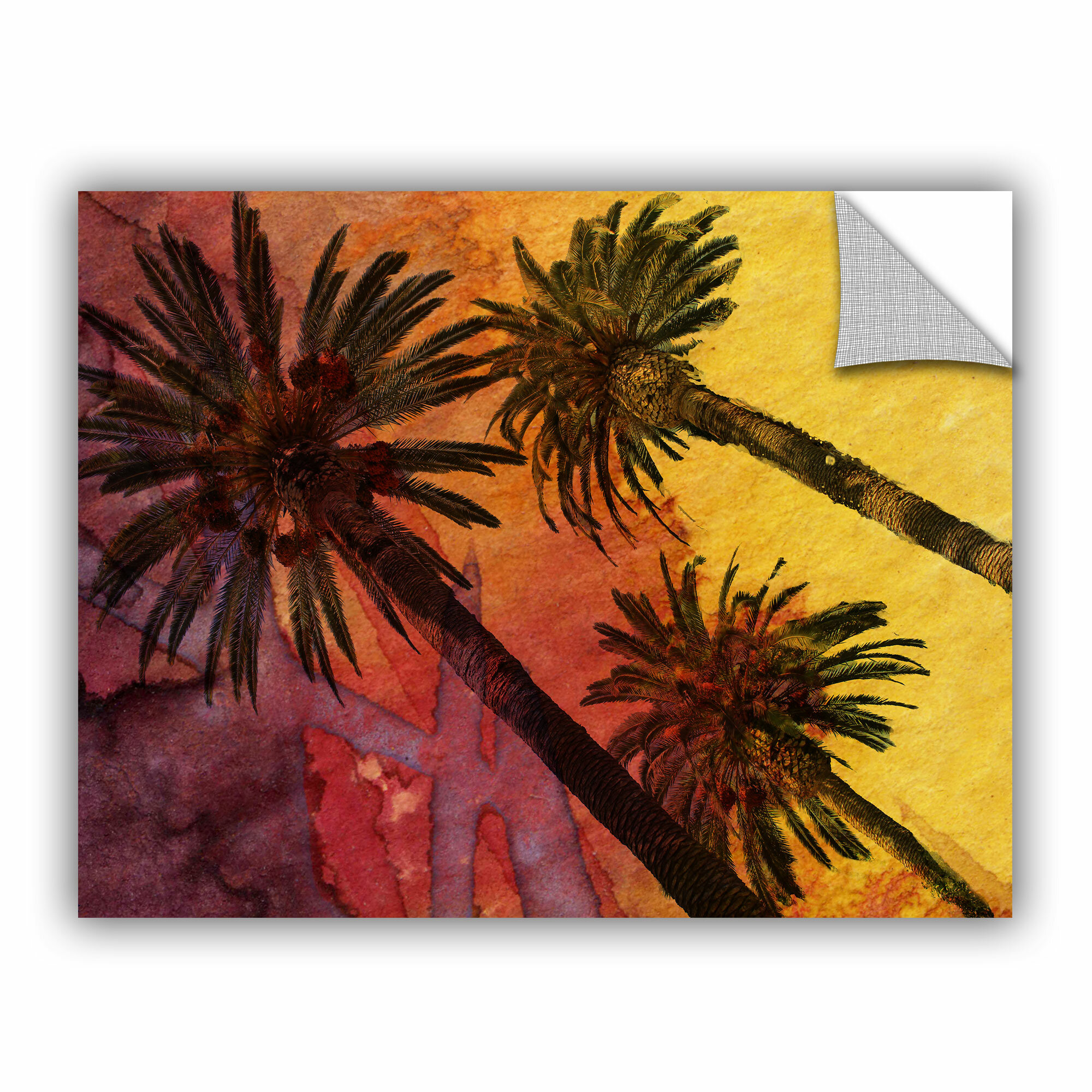 Artwall Beach With Palm Trees By Irena Orlov Wall Mural Wayfair