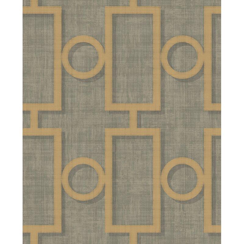 """ABMC Adorn Geometric 32.81 L x 20.5"""" W Wallpaper Roll"""