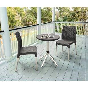 Resin patio furniture wayfair catlin 3 piece resin bistro set watchthetrailerfo