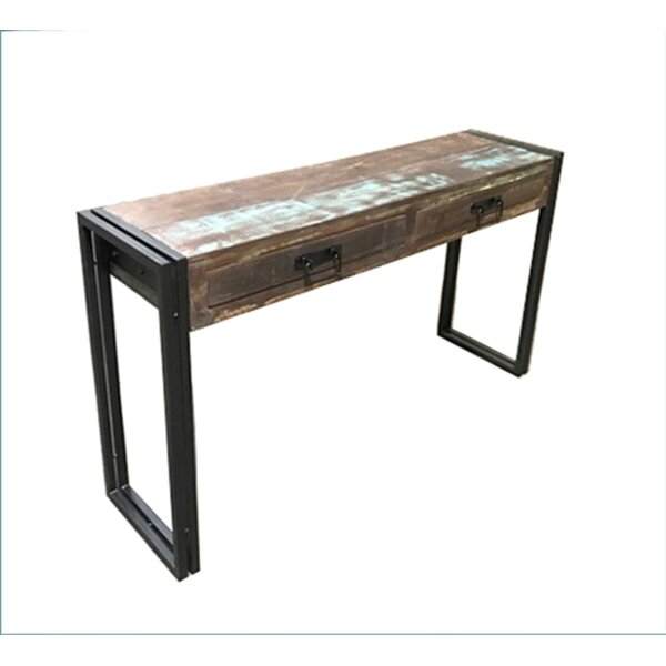 High Quality Timbergirl Old Reclaimed Wood Console Table With Metal Legs U0026 Reviews |  Wayfair