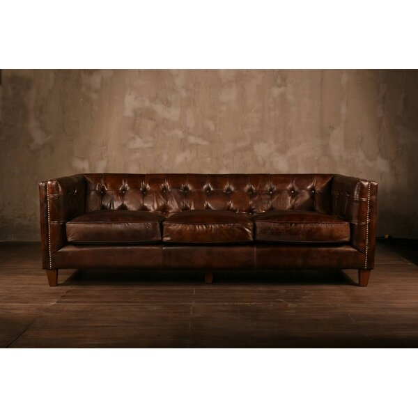 PoliVaz Leather Chesterfield Sofa Reviews Wayfair