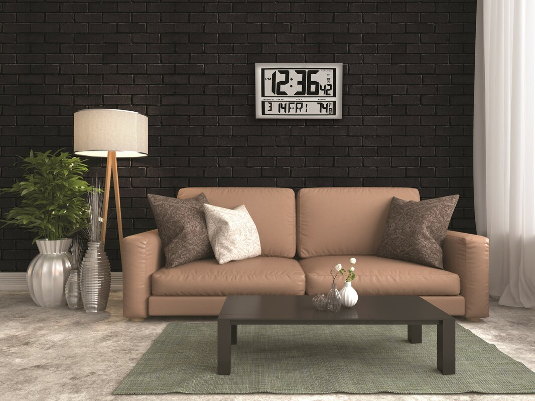 Living Room Lighting Temperature Marathon Watch Company Commercial Grade Jumbo Atomic Wall Clock