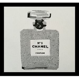 'Chanel No. 5 Paris Perfume' Framed Painting Print