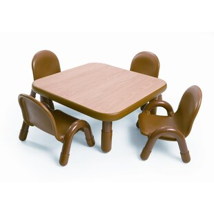 Gentil Square Baseline Toddler Table And Chair Set In Natural