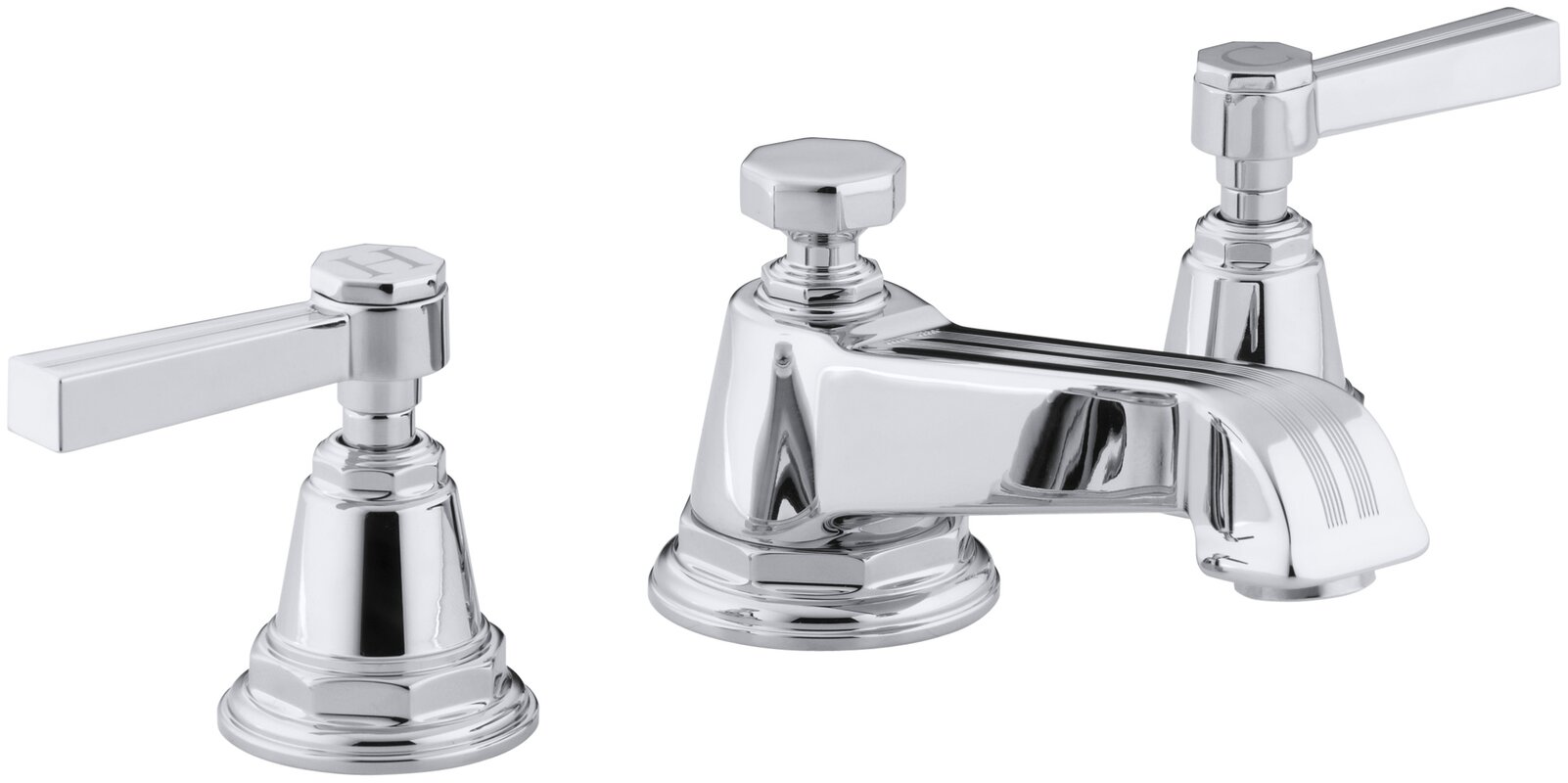 Signature Hardware Victorian Widespread Bathroom Faucet: Kohler Pinstripe Widespread Bathroom Faucet With Drain