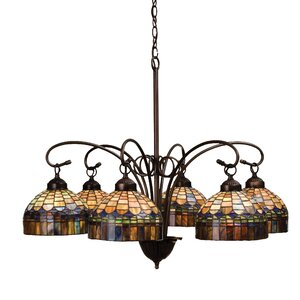 Tiffany Candice 6-Light Shaded Chandelier