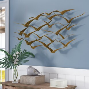 Captivating Beautiful Patterned Metal Flocking Birds Wall Decor