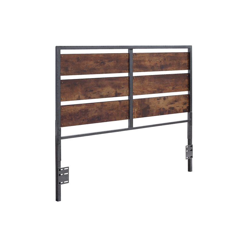 Abril Metal And Wood Plank Queen Slat Headboard Amp Reviews Allmodern