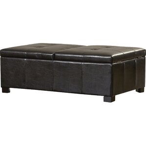 Grissom Leather Double Storage Ottoman by Red Barrel Studio