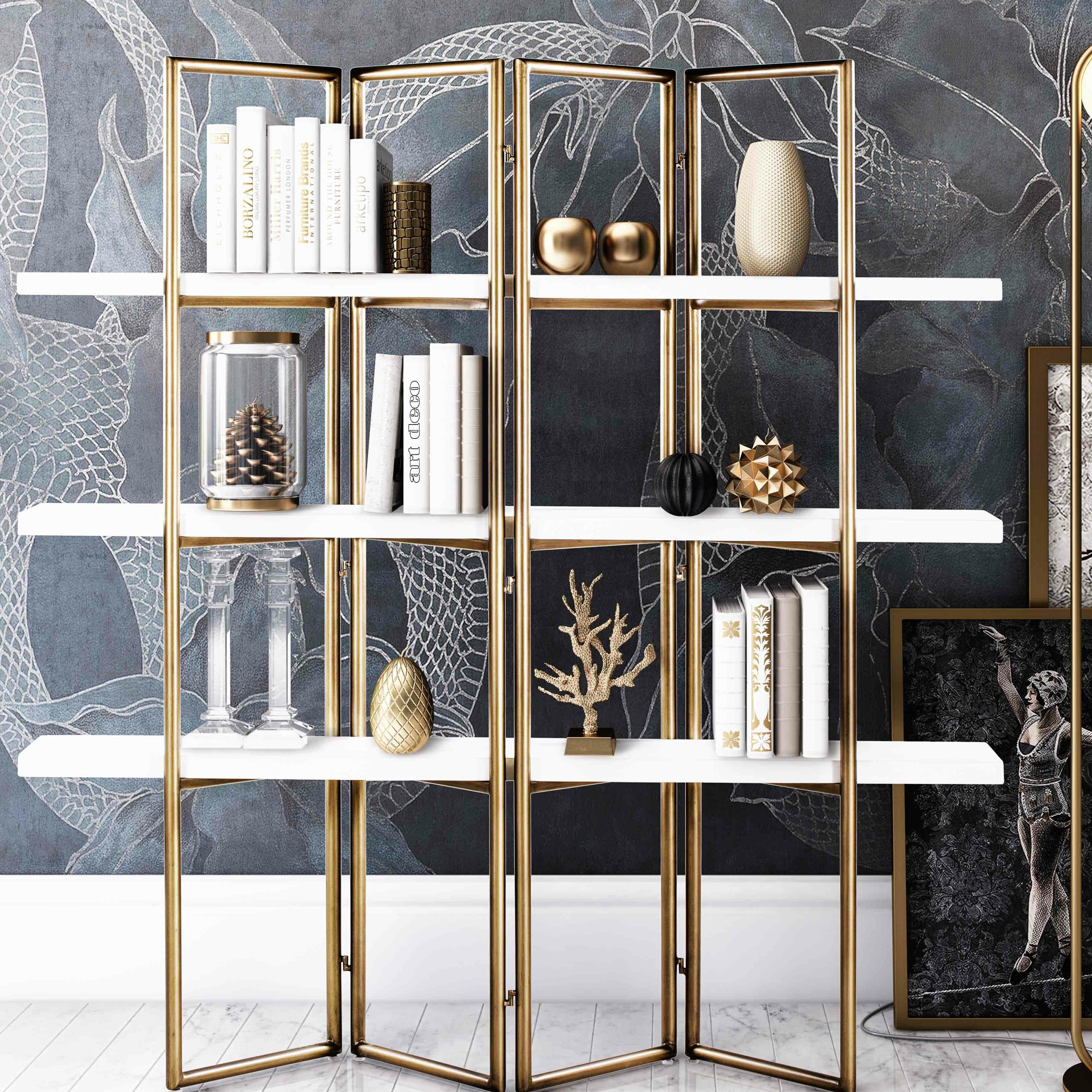Ellenton Coffee Table With Storage: Everly Quinn Ellenton Concrete Etagere Bookcase