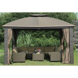 Replacement Canopy For 10 W X 12 D Riviera Resin Gazebo