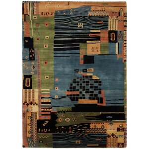Gabbeh Hand-Knotted Area Rug