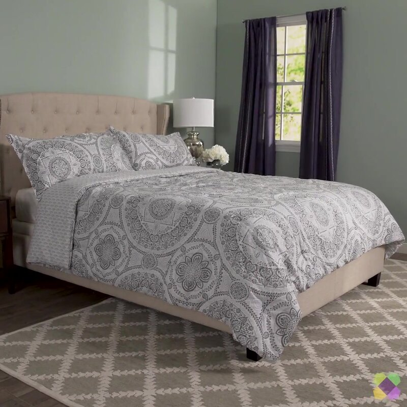 mercury row apollo 150 thread count 100 cotton reversible comforter set reviews wayfair. Black Bedroom Furniture Sets. Home Design Ideas