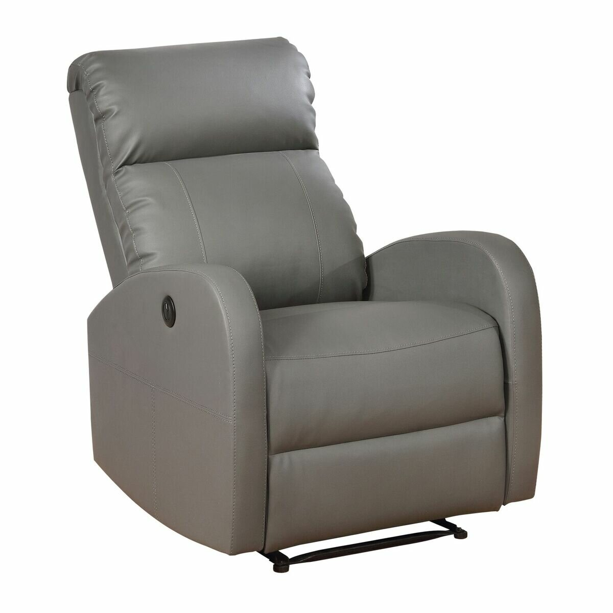 dp bonded amazon rocker black com kitchen living chair leather recliner brown bl room dining