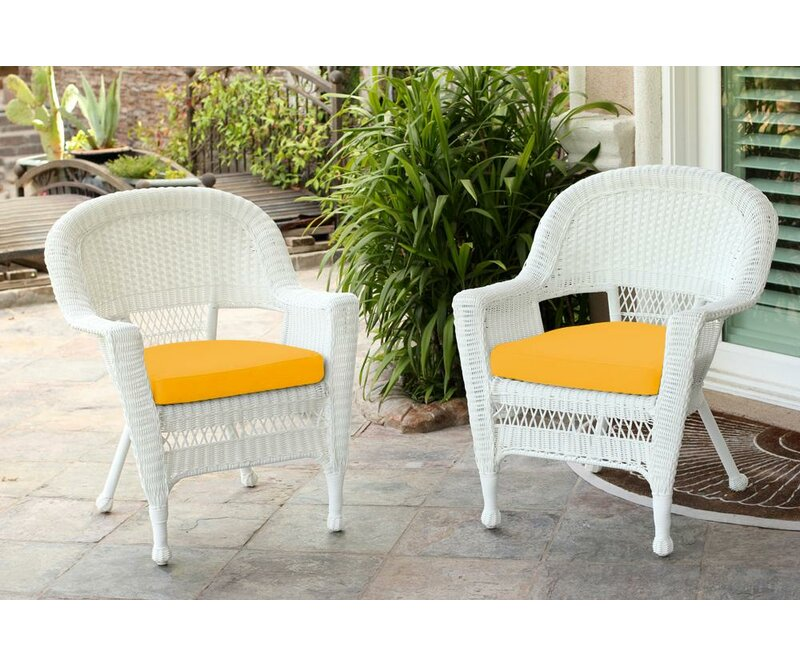 Merveilleux Burrowes Wicker Chair With Cushion