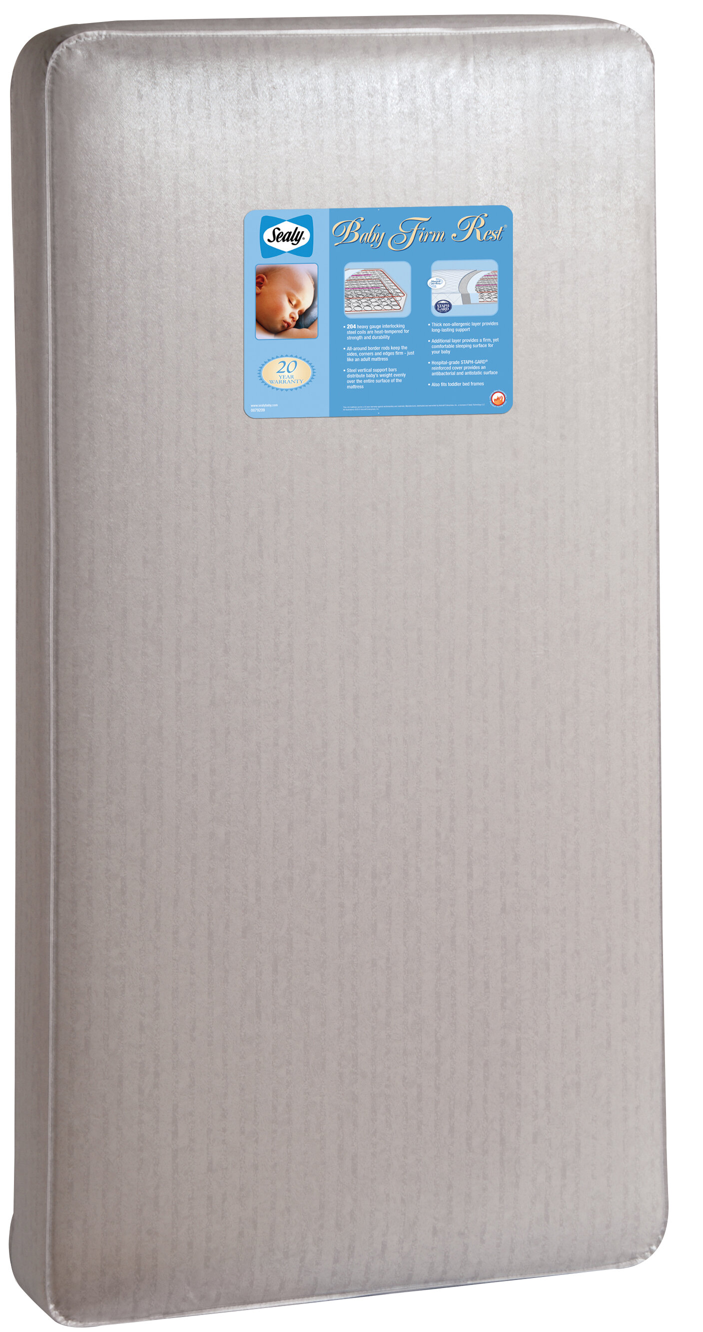 "sealy baby firm rest 5.5"" crib mattress & reviews 