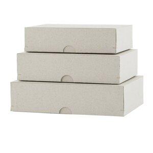 3-tlg. Aufbewahrungsboxen-Set aus Karton von House Doctor