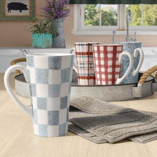 Ellecourt 4 Piece 16 Oz Coffee Mug Set