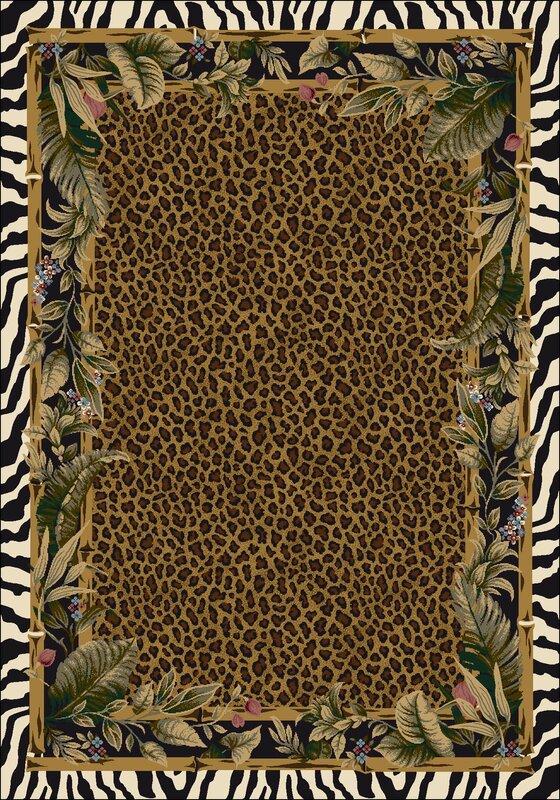 milliken signature jungle safari skins area rug & reviews   wayfair