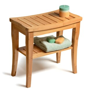 Merveilleux Bamboo Deluxe Bench Shower Seat